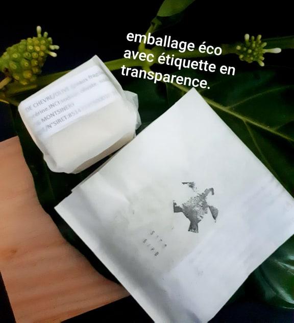 Emballage écologique avec étiquette en transparence