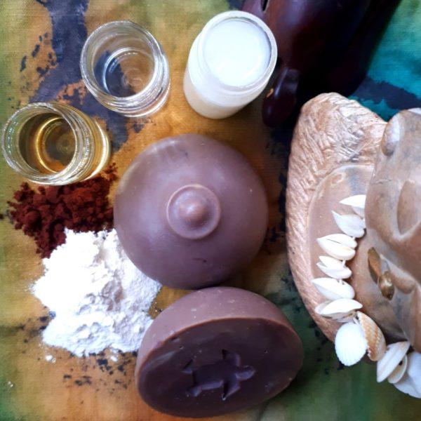 Ingrédients savon manioc - Cacao - Sapo Sapo